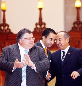 Felipe Calderón y Agustin Carstens