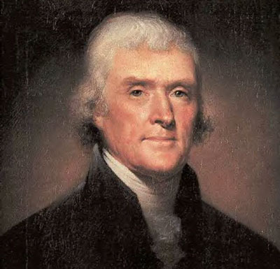Thomas Jefferson (13 de abril de 1743 — 4 de julio de 1826)