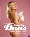 Charlotte Ross, I'd rather show my buns than wear fur.