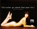 Christy Turlington, I'd rather go naked than wear fur.