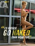 Joanna Krupa, I'd rather go naked than wear fur.