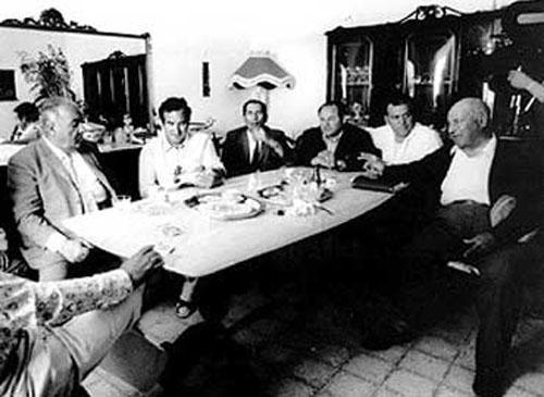 Antiguos lideres de la mafia italiana.