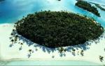 Impresionante vista aérea de Motu Tane, en la Polinesia Francesa.