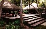 Terraza de una de las villas de Motu Tane