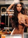 Roselyn Sanchez, Prefiero estar desnuda a usar pieles.