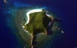 La forma de Turtle Island bien hace honor a su nombre. Está situada en las Islas Fiji y admite un máximo de 28 personas.